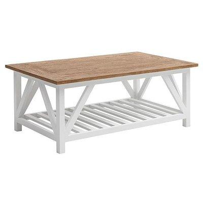 Vera soffbord - Vit/trä