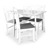 Sarek matgrupp - Bord inklusive 4 st Sofiero stolar - Vit