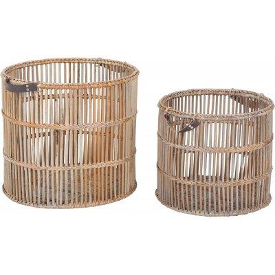 Willard rund bambukorg - Grå