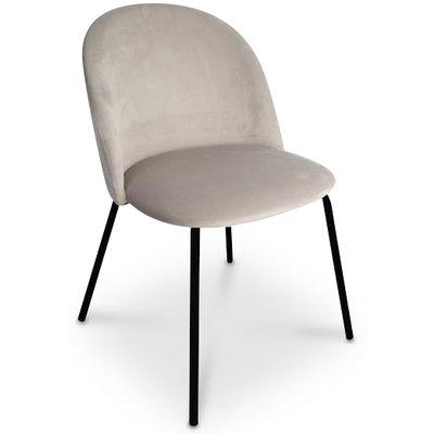 Giovani velvet stol - Gråbeige/Svart
