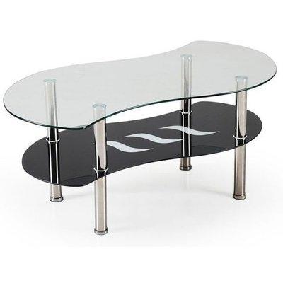 Ciara soffbord - Svart/glas