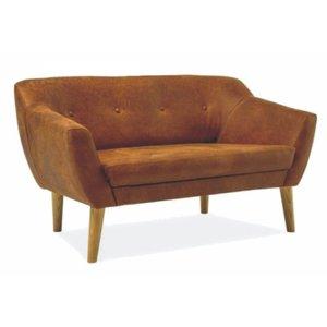 Camryn 2-sits soffa - Brun/ek