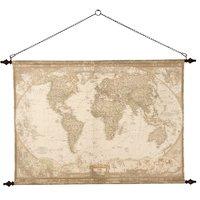 Väggdekoration - Världskarta antik stil