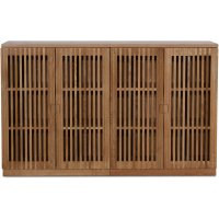 Level sideboard med dörrar i ribbor B140 cm - Ek
