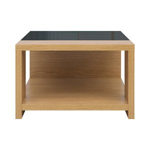 Manilla soffbord - Ek/svart (Högglans)