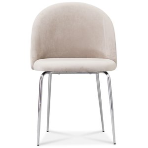 Tiffany velvet stol - Beige/Krom