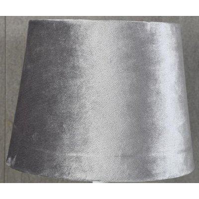 Velvet lampskärm 20 cm - Grå