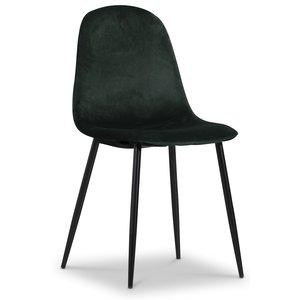 Carisma stol - Mörkgrön sammet
