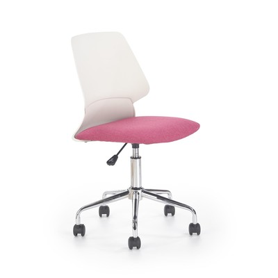 Dannie kontorsstol - Vit/rosa