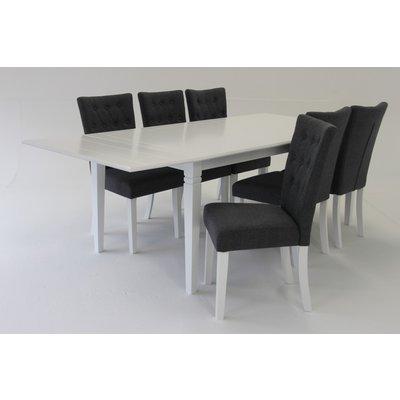 Sandhamn matgrupp - Bord inklusive 6 st stolar - Vit