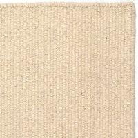 Handvävd matta - Luxor - Vit - Ull