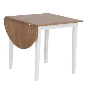 Merida bord med 1 klaff 111 cm - Vit / ek