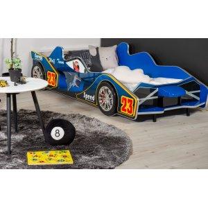 Barnsäng Formel F1 med belysning - Blå