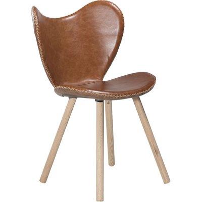 Butterfly stol - Ljusbrunt läder / Ek