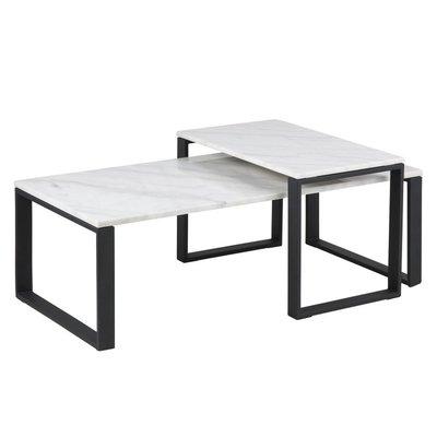 Carlton satsbord - Marmor/svart