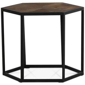 Dolce 6-kantigt lampbord - Återvunnet trä / Metall