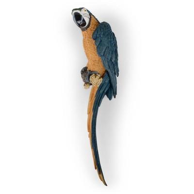 Väggdekor Papegoja - Blå/gul