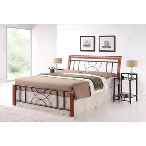 Säng Salina 160x200 cm - Antik körsbär/svart