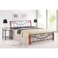 Säng Biloxi 160x200 (antik körsbär.)
