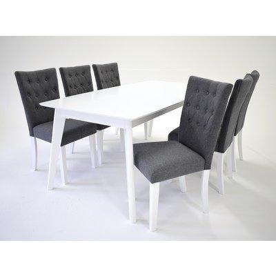 Sarek matgrupp - Bord inklusive 6 st Crocket stolar - Vit