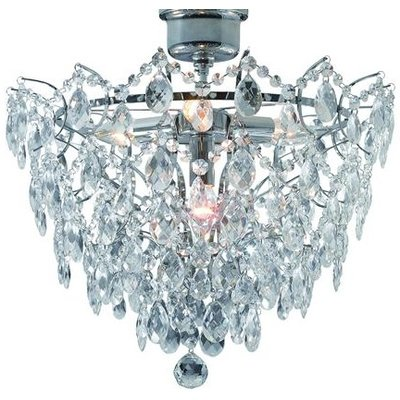 Rosendal Kristallplafond 4 - Krom/Kristall