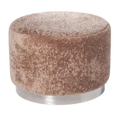 Furry sittpuff 50 cm - Beige / Krom