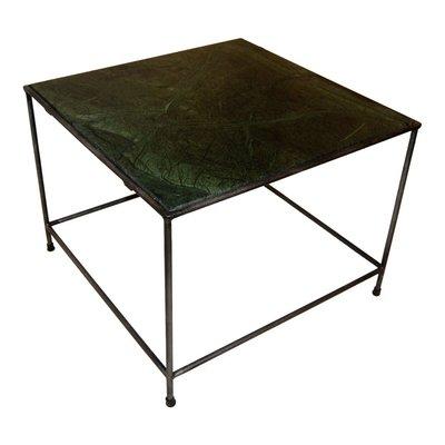 Canaries soffbord - Grön marmor/zink