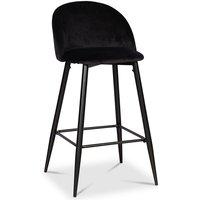 Tuva barstol med rygghandtag Svart sammet 2290 kr