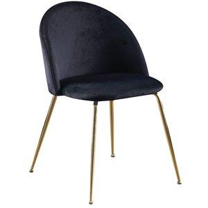 Art velvet stol - Svart / Mässing