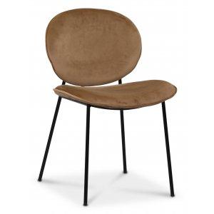 Rondo stol - Brun (Sammet)