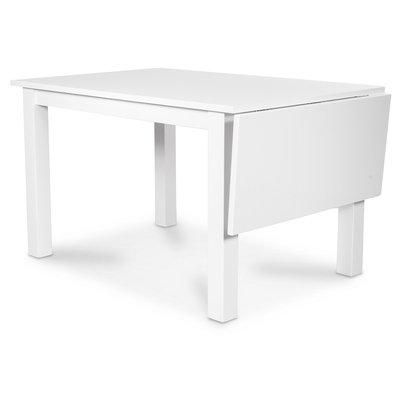 Sander bord med klaff 120-160 cm - Vitt