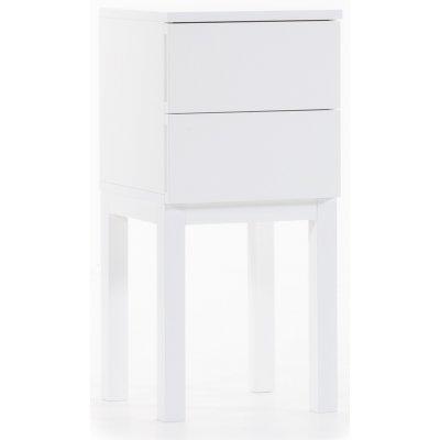 Österlen sängbord med lådor - vit
