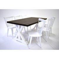 Provence matgrupp - Bord inklusive 6 st stolar - Brun / vit