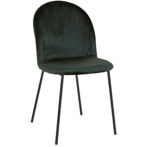 Khloe stol - Mörkgrön sammet