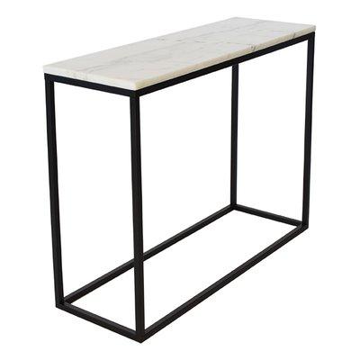Accent konsolbord - Vit marmor / Svart