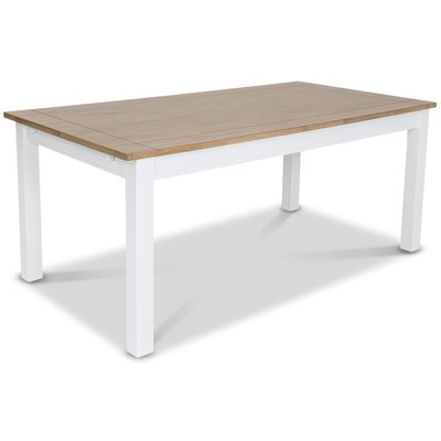 Skagen matbord 180 cm - Vit/Ekbets