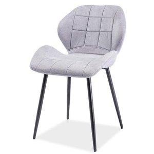 Anahi stol - Ljusgrå/mattsvart