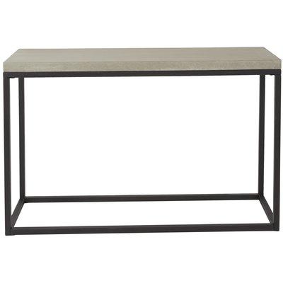 Lava konsolbord - Cement / svart