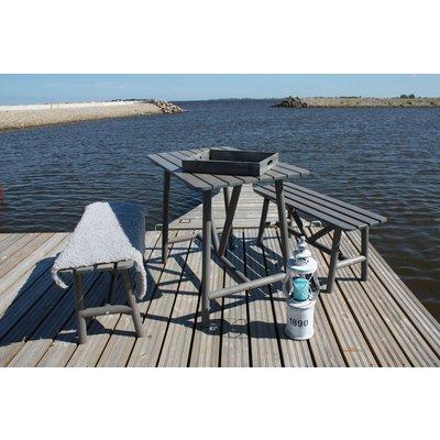 Åland bord med 2 bänkar - Grå