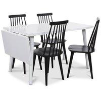 Dalsland matgrupp, Bord med klaff och 4 st svarta Dalsland pinnstolar