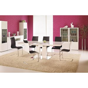 Arwa matbord 180-220 cm - Vit högglans