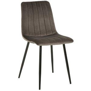 Kayla stol - Grå sammet