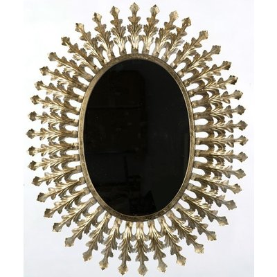 Spegel Jasmin Oval 70x85 cm - Old Gold