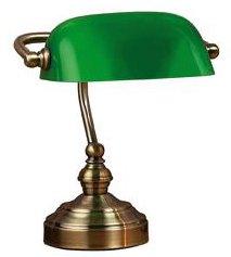 Bankers Bordslampa - 25 Oxide/Grön