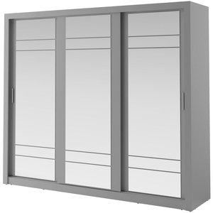 Mervyn garderob med spegel - Grå