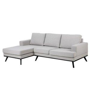 Ventura soffa - Ljusgrå/svart - Vänster