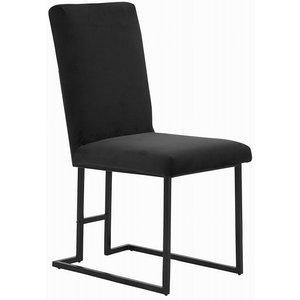 Simple stol - Svart sammet