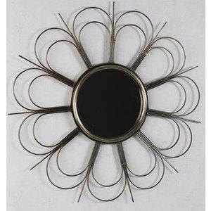Flower spegel 65 cm - Antik mässing
