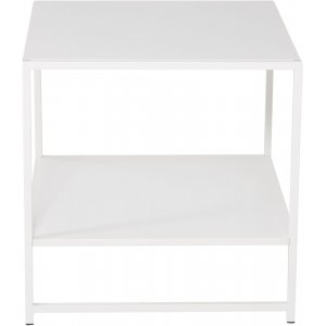 Träne sidobord med hylla - Vit