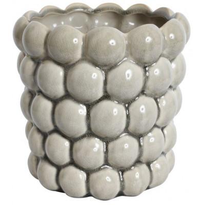 Kruka Big Bouble H18 cm - Ljusgrå (Glansig)